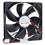 "4.75"""" X 4.75"""" (120mm) Airwave Case Fan W/3-pin & 4-pin Connectors(black)"