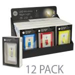 "(12-pack) Night Lights ? Assorted Colors, """"light Switch Shaped"""",battery Powered Super Bright Led Night Light"