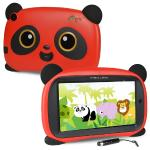 "Maxwest Panda 7 Quad-core 1.2ghz 1gb 16gb 7"""" Capacitive Touchscreenkids Tablet Android 8.1 Go W/cams & Bt (red)"