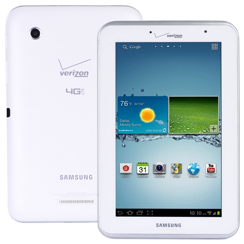"Samsung Galaxy Tab 2 (7.0) 4g Lte 1.2ghz 1gb 8gb 7"""" Capacitivetouchscreen Tablet Android 4.0 (white - Verizon)"
