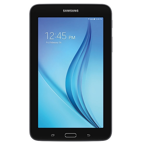 "Samsung Galaxy Tab E Lite Quad-core 1.3ghz 1gb 8gb 7"""" Capacitivetouchscreen Tablet Android 4.4 W/cam & Bt (black)"