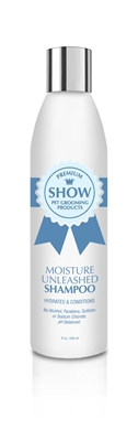 MOISTURE UNLEASHED Shampoo 8oz by SHOW Premium Pet Grooming Products