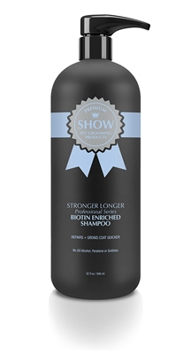 STRONGER LONGER Shampoo 32oz by SHOW Premium Pet Grooming Products
