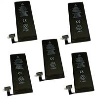 5-Pack lot set of Battery for Apple iPhone 4s 32GB