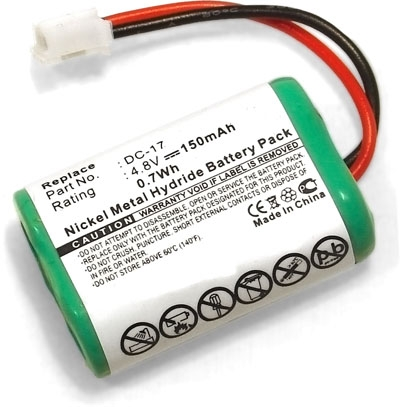 2 Pack of SportDog Field Trainer SD-400 Receiver Battery Replacement for SportDog DC-17 Dog Training Collar Battery 150mAh, 4.8V, NI-MH