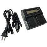 LCD Dual Rapid Battery Charger for Trimble EiDLi1