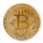 Bitcoin Challenge Coin 24k Gold Plated