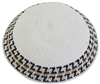 DMC Knit Kippot White Medium With Design