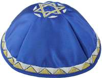 Royal Blue Satin Skull Cap #GASC161SRB