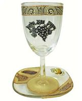 Glass Kiddush Cup #LAKCBN