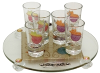Glass Liquor Set #LALS34R