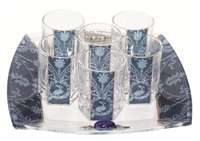 Glass Liquor Set #LALSBL