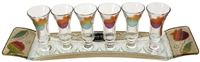 Glass Liquor Set #LALSRB