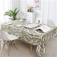 Jacquard Tablecloth #1316 White/Gold  -  Prepackaged Tablecloths