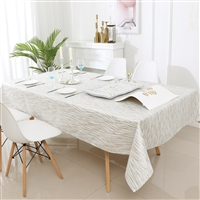 Jacquard Tablecloth #1318 White/Silver/Gold -  Prepackaged Tablecloths