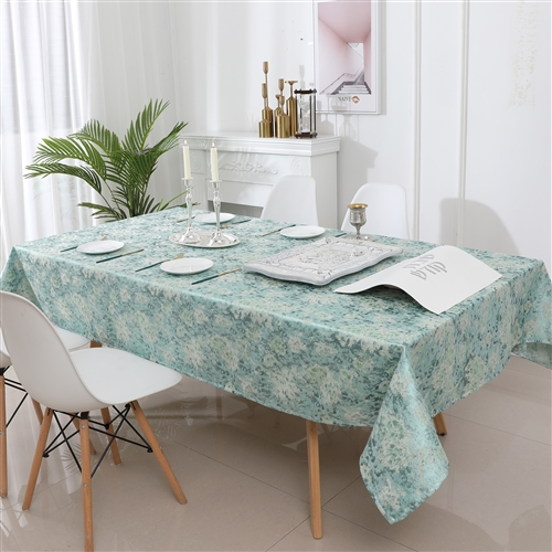 Jacquard Tablecloth #1320 Forest Green - ON SALE NOW -  Prepackaged Tablecloths