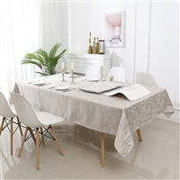 Jacquard Tablecloth #1323 Champagne -  Prepackaged Tablecloths
