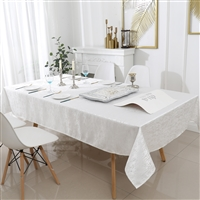 Jacquard Tablecloth #1324 Off White -  Prepackaged Tablecloths