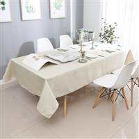 Jacquard Tablecloth #1325 Light Beige -  Prepackaged Tablecloths