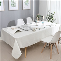 Jacquard Tablecloth #1326 White/Silver -  Prepackaged Tablecloths