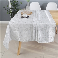 Jacquard Tablecloth #1330 White -  Prepackaged Tablecloths