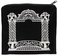 Majestic Giftware Tefillin Bag Bar Mitzvah Velvet Embroidery Four Corner Design Stones 10.5 x 10.5 Black//Silver TF820BMBKS