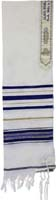 Tallit Wool Blue Gold