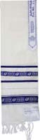 Tallit Wool Ribbon Star Of David Blue Silver