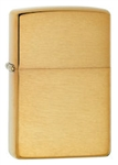 Zippo Lighter - Armor Brushed Brass - 168