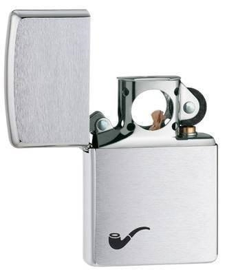 Zippo Pipe Lighter Brushed Chrome - 200PL