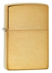 "Zippo Lighter - Brushed Brass ""Solid Brass"" Engraved - 204"