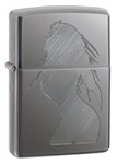 Zippo Lighter - Seductive Silhouette Black Ice - 20762