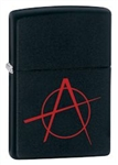 Zippo Lighter - Anarchy Black Matte - 20842