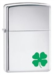 Zippo Lighter - A Bit O Luck High Polish Chrome - 24007