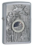 Zippo Lighter - Joined Forces Emblem Street Chrome - 24457