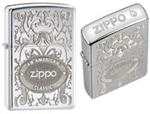 Zippo Lighter - Crown Stamped High Polish Chrome - 24751