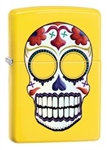 Zippo Lighter - Day Of The Dead Tattoo Skull Lemon Matte - 24894