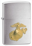 Zippo Lighter - Marines Emblem Brushed Chrome - 280MAR