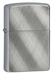 Zippo Lighter - Diagonal Weave Brushed Chrome - 28182