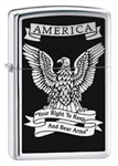 Zippo Lighter - Eagle High Polish Chrome - 28290