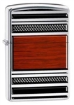 Zippo Pipe Lighter Steel And Wood High Polish Chrome - 28676