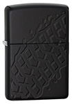 Zippo Lighter - Tire Tread Armor Black Matte - 28966