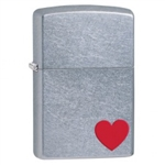 Zippo Lighter - Classic Love Satin Chrome - 29060