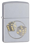 Zippo Lighter - Dice Satin Chrome - 29412