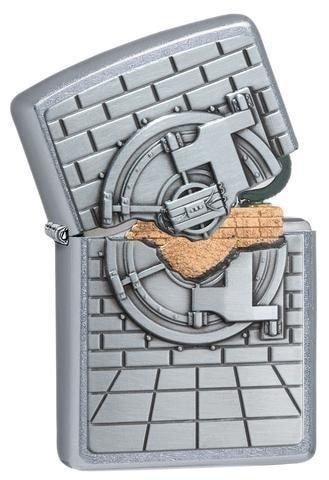 Zippo Lighter - Safe With Gold Cash Surprise - 29555