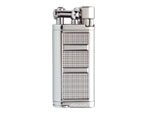 Xikar Lighter - Chrome Silver Pipeline Flint Angled Flame - 595CS
