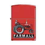 Zippo Lighter - Farmall Super M Red Matte 851249
