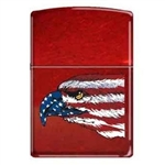Zippo Lighter - American Eagle and Flag Candy Apple - 851679