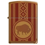 Zippo Lighter - Buffalo Toffee Finish - 851969