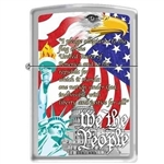 Zippo Lighter - We the People Brushed Chrome - 852030